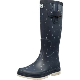 Helly Hansen 2018 Women's Veierland 2 Graphic Rain Boot - 11285_690 - evening blue / off white