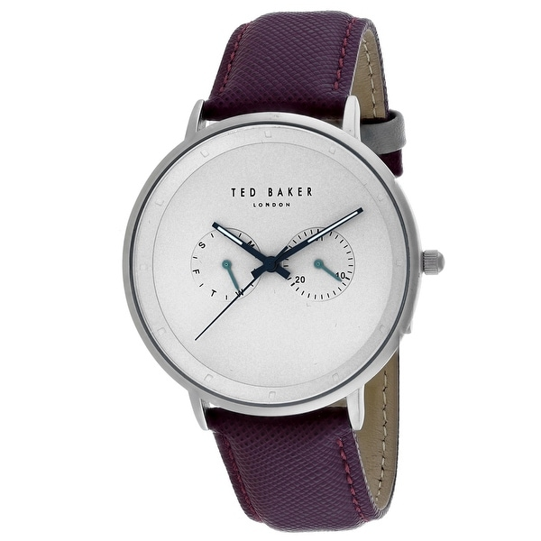 38e04e911 Shop Ted Baker Men s Classic TE50657004 Silver Dial Watch - Free Shipping  Today - Overstock - 24205346