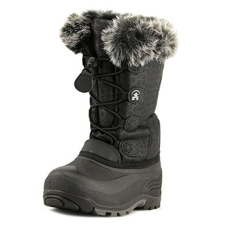 Kamik Snow Gypsy Youth  Round Toe Synthetic Black Snow Boot
