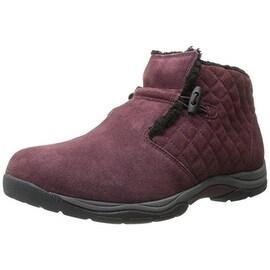 Easy Street Womens Felicia Suede Water Repellent Winter Boots - 5.5 medium (b,m)