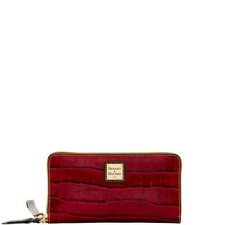 Dooney & Bourke Croco Large Zip Around Wristlet (Introduced by Dooney & Bourke at $138 in Jul 2016) - Bordeaux