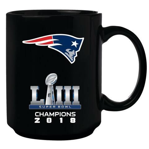 New England Patriots Super Bowl LIII Champions 15oz. Full Wrap Art Mug - Black