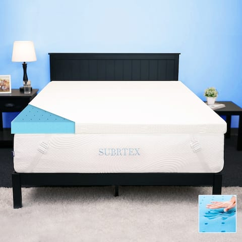 Subrtex 2,3, or 4 inches Gel-Infused Memory Foam Bed Mattress Topper