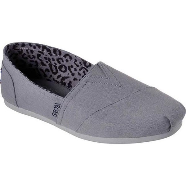 Shop Skechers Women's BOBS Plush Peace and Love Gray Free