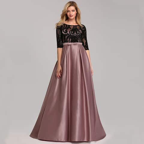 Ever-Pretty Womens Lace Half Sleeve Prom Party Formal Evening Dance Dress 07866