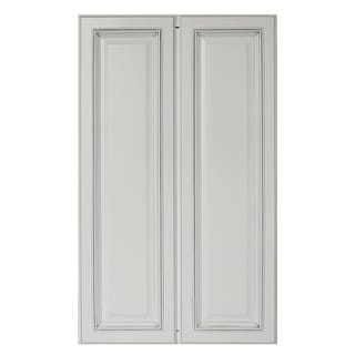 "Sunny Wood SLP2442T-A  Sanibel 24"" Wide x 42"" High Double Door Pantry Cabinet - Off White with Charcoal Glaze"