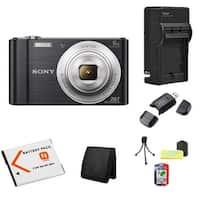 Sony Cyber-shot W810 20MP Black Camera Bundle