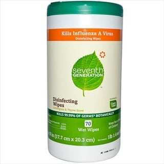 Seventh Generation Disinfecting Wipes Lemongrass And Thyme - 70 Wipes