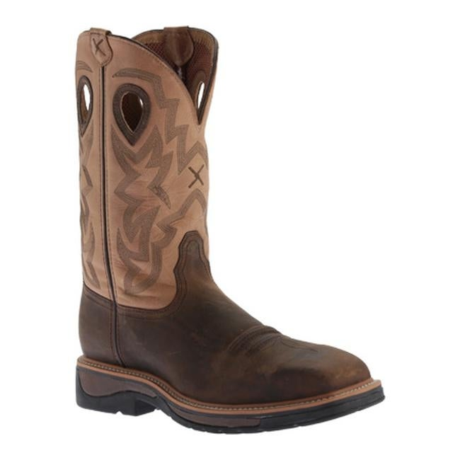 6b5bcdc2b3e Twisted X Boots Men's MLCS019 Lite Weight Cowboy Work Boot Crazy  Horse/Hazel Leather