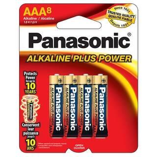 "Panasonic Aklaline Size ""Aaa"" Plus Power (8-Pack)|https://ak1.ostkcdn.com/images/products/is/images/direct/b5deb21acb1c04edd3fd634f13641fb376a3989b/Panasonic-Aklaline-Size-%22Aaa%22-Plus-Power-%288-Pack%29.jpg?impolicy=medium"