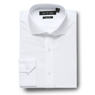 Link to Men's Regular Fit Cutaway Collar Travel Easy-Care Cotton Dress Shirt Similar Items in Shirts