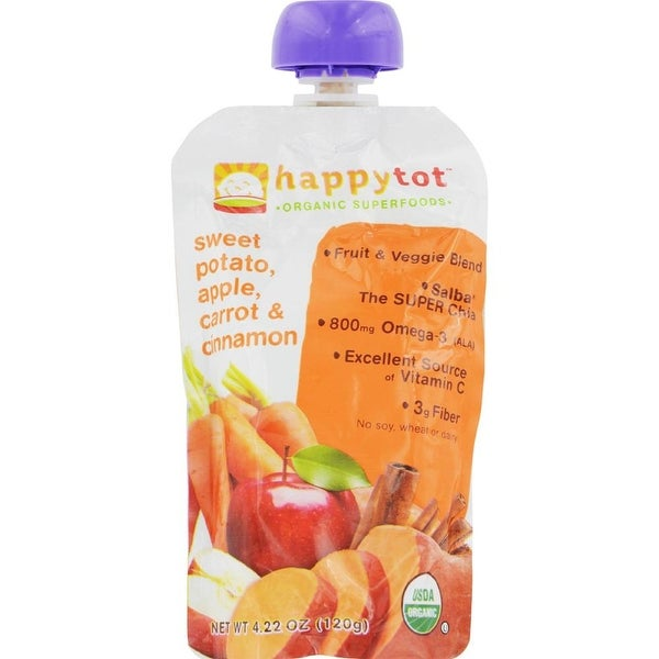 Happy Family - Organic Superfoods - Sweet Potato Apple Carrot And Cinnamon ( 16 - 4.22 OZ)