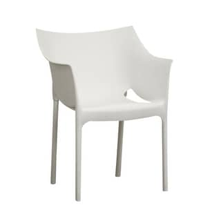 Astoria White Molded Plastic Arm Chair   2 Chairs