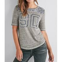 Lucky Brand Heather Womens Small Varsity T-Shirt Top