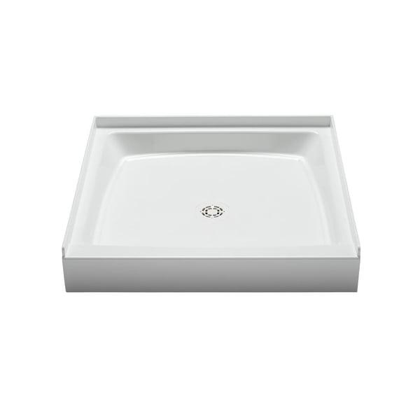 "PROFLO PFSB3434 Single Curb Rectangular Shower Pan (34"" X 34"") - For Alcove Installation - White"