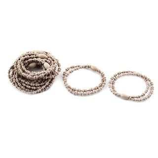 Girl Elastic Rubber Hair Tie Rope Ring Band Haristyle Maker Holder Khaki 10pcs