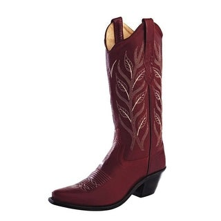 Old West Cowboy Boots Womens Snip Goodyear Cushioned Red