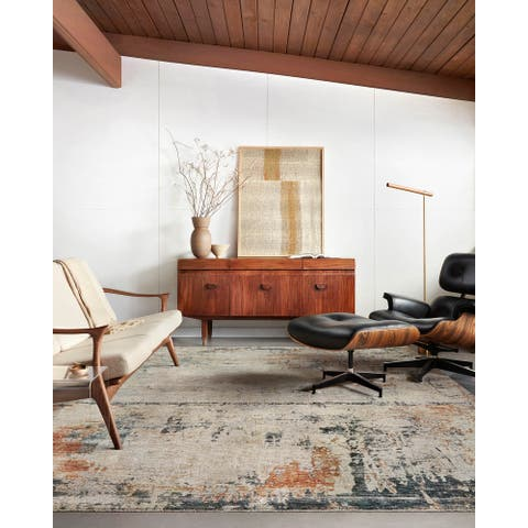 Alexander Home Alexis Mid-Century Modern Abstract Area Rug