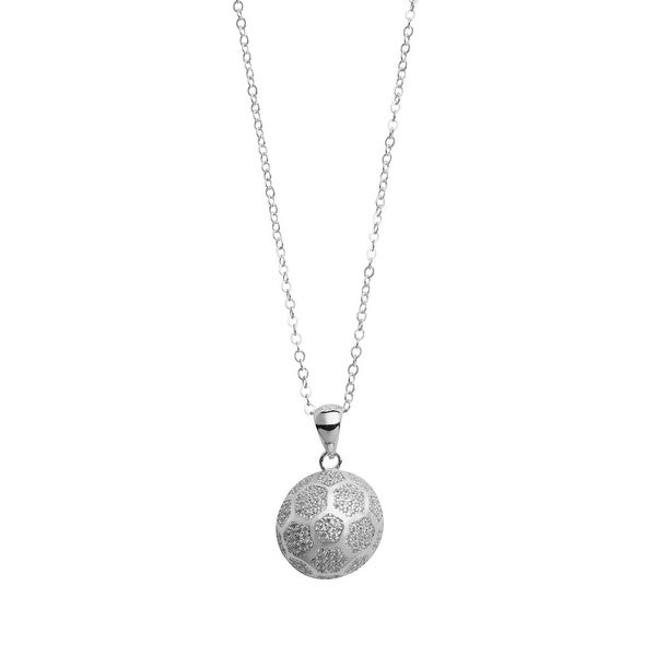 Womens sports sterling silver jewelry soccer pendant necklace womenx27s sports sterling silver jewelry soccer pendant necklace aloadofball Image collections