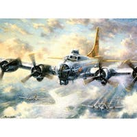 "Paint By Number Kit 15.375""X11.25""-Flying Fortress"