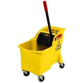 Rubbermaid Commercial 31 Qt Tandem Bucket Wringer Yellow