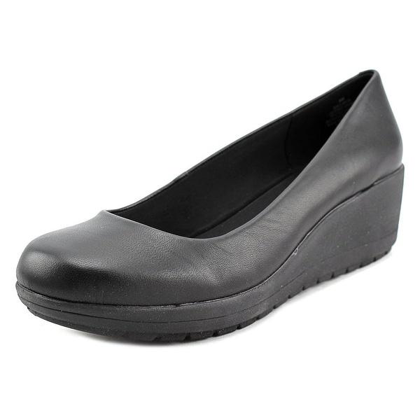 fc4a03d0812 Shop Easy Spirit e360 Clarita Women W Open Toe Leather Wedge Heel ...