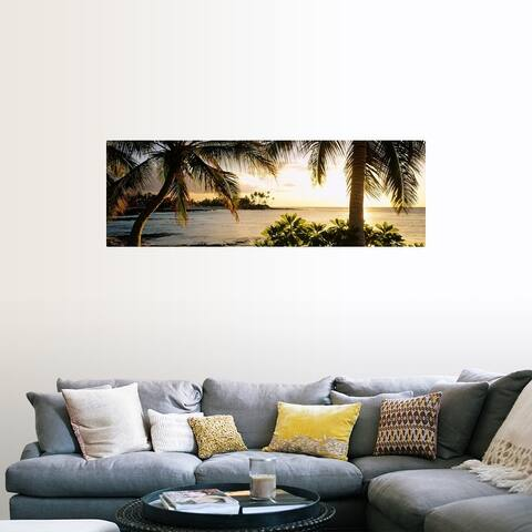 """Palm trees on the coast, Kohala Coast, Big Island, Hawaii"" Poster Print"