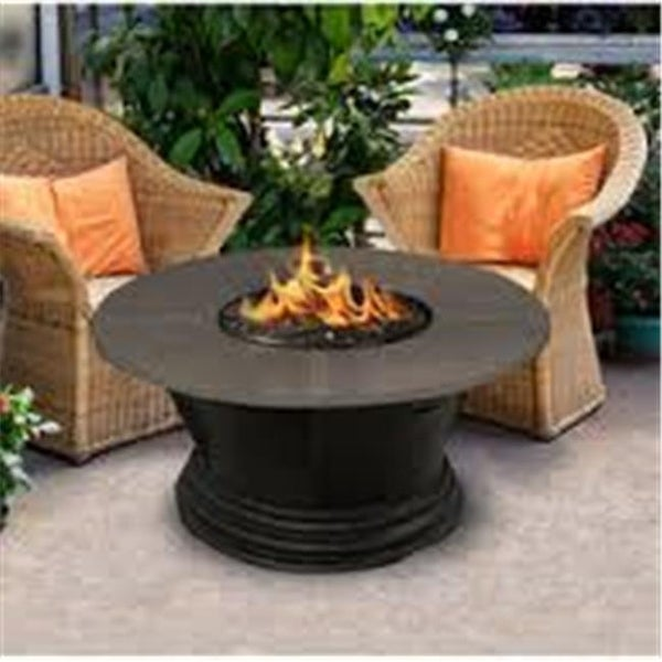 Shop 48 In Carmel Chat Height Square Fire Pit Table With Gold