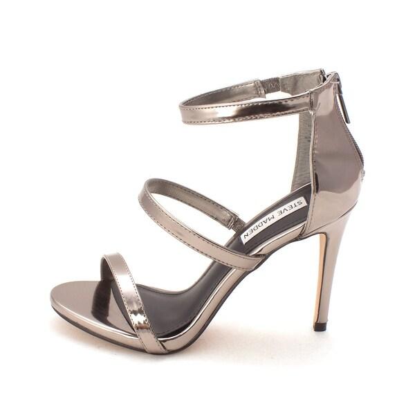 Steve Madden Womens feel ya Open Toe Ankle Strap Classic Pumps