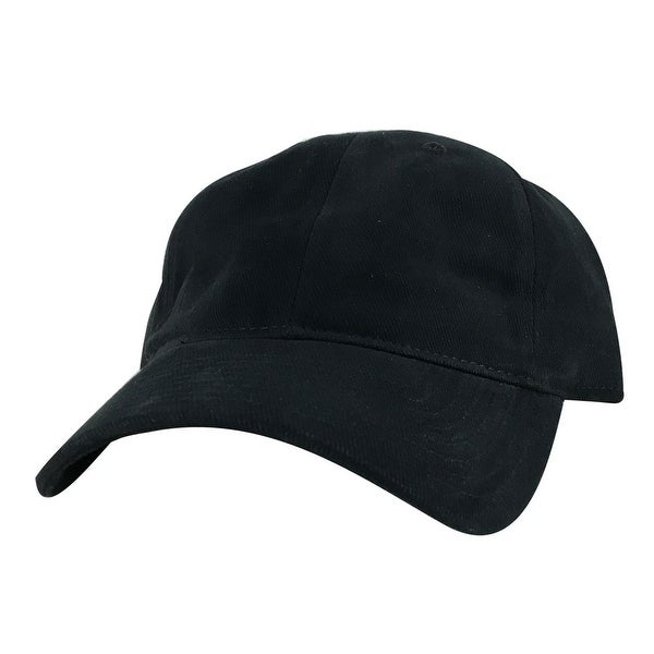 CapRobot Style#101 Unstructured Low Profile Strapback Hat Dad Cap - Black