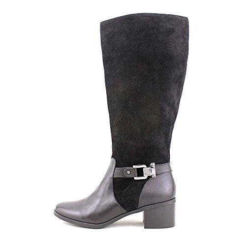 Anne Klein Womens Joetta Leather Almond Toe Knee High Fashion Boots