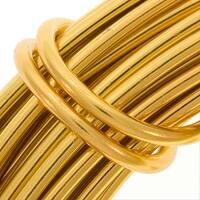 Aluminum Craft Wire Gold Color 12 Gauge 39 Feet (11.8 Meters)