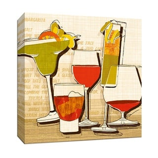 "PTM Images 9-146828  PTM Canvas Collection 12"" x 12"" - ""Margarita"" Giclee Liquor & Cocktails Art Print on Canvas"