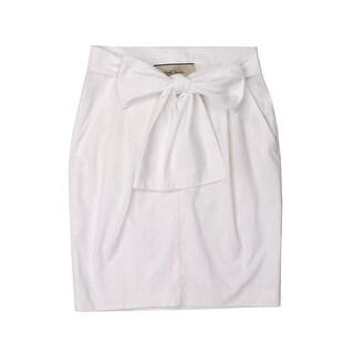 Paul Smith Womens White Cotton High Waist Tie Front Skirt