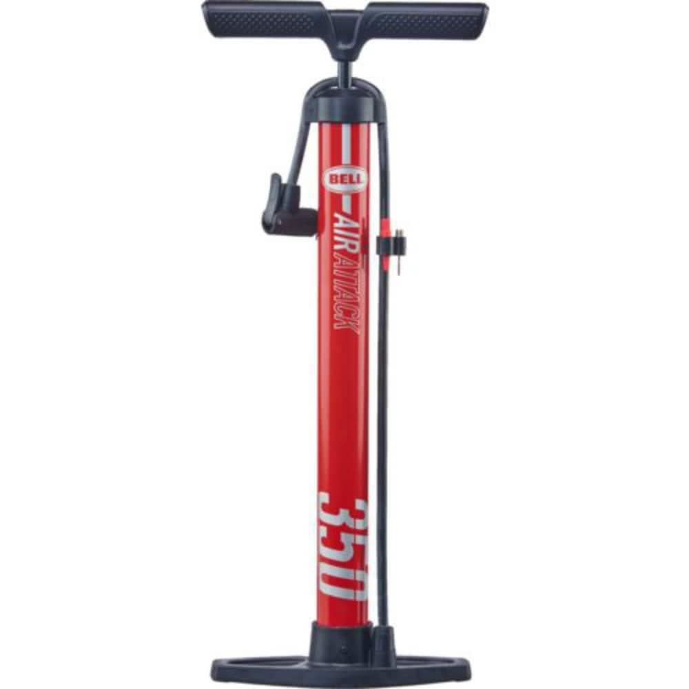 Bell Sports  100 PSI  Steel  Bike Pump  Red