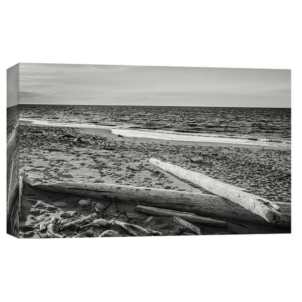"""PTM Images 9-101753 PTM Canvas Collection 8"""" x 10"""" - """"Driftwood on Beach, Fort Worden State Park"""" Giclee Beaches Art Print on"""