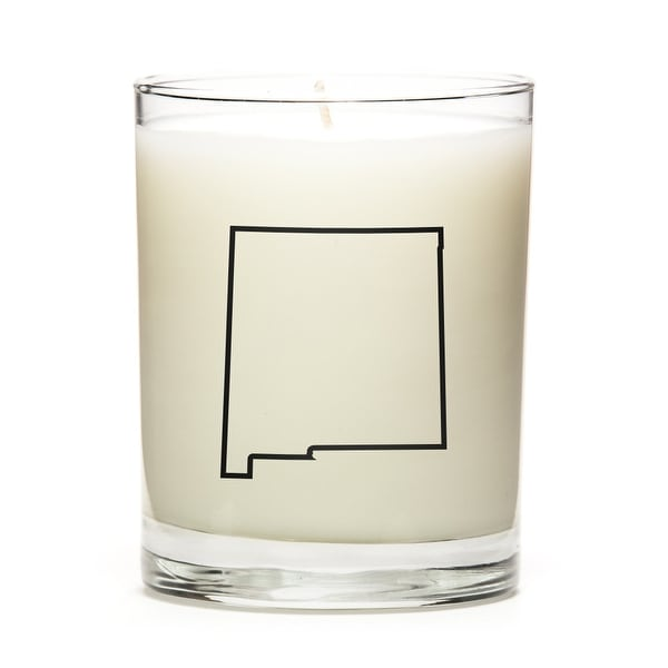 State Outline Soy Wax Candle, New-Mexico State, Lemon