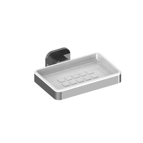 WS Bath Collections Deva 3120 Modern Wall Mounted Ceramic Soap Dish - Polished chrome - N/A
