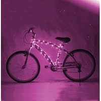 Cosmic Brightz LED Bicycle Light Accessory: Pink - multi