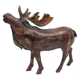 "Link to HomeRoots 3.5"" x 13.5"" x 12"" Brown/Yellow, Reclaimed Iron - Moose Similar Items in Christmas Decorations"