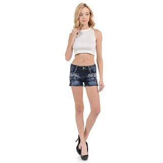 Sweet Look Women's Shorts - Denim -WG0113 - Color - Blue - Size - 15