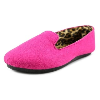 Dawgs Smoking slipper Toddler Round Toe Canvas Pink Slipper