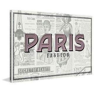 Marmont Hill Paris Fashion Saturday Evening Post Painting Print on Canvas