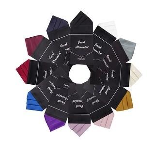 Jacob Alexander Men's Pre-Folded Triangles Pocket Square Handkerchief - One Size