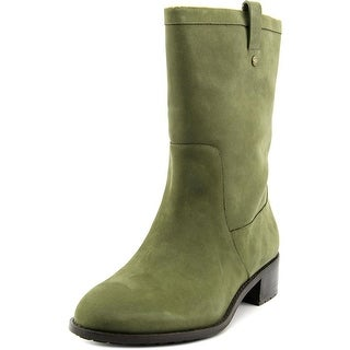 Cole Haan Jessup WP Women Round Toe Leather Green Mid Calf Boot
