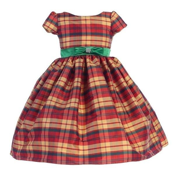 9dde0140bea Shop Ellie Kids Girls Red Green Bow Short Sleeve Tartan Christmas Dress -  Free Shipping On Orders Over $45 - Overstock - 18533302