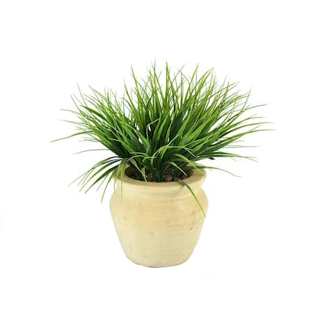 MODA MDW-1019-0722 wood pot with plastic plant - 7.48*7.48*14.17 inches