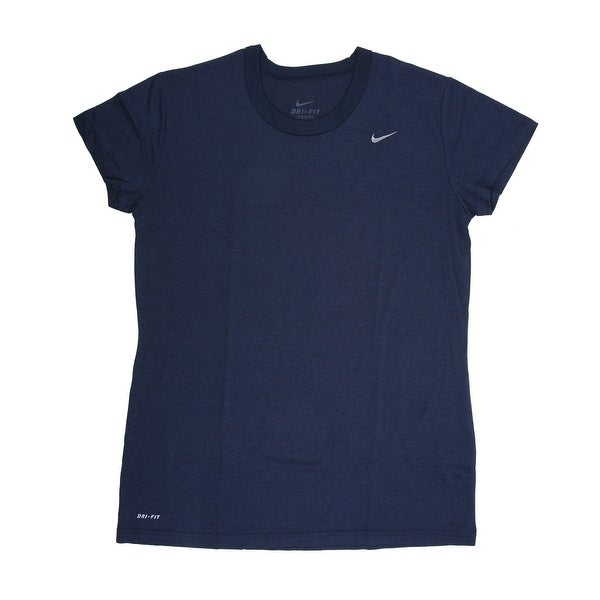 081719bf187c Shop Nike Women s Short Sleeve Performance Tee Shirt Navy Large - Free  Shipping On Orders Over  45 - Overstock.com - 21294113