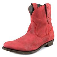 Independent Boot Company Mason Short Women  Round Toe Leather Red Ankle Boot