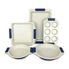 Vitesse High Quality Ceramic-Coating Bakeware 5-Piece Set